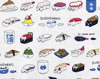 Sushi Cats White By Kobayashi Sold By Half Yard