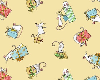 Fat Quarter Just What I Wanted Butter Present Toss By Anita Jeram For Clothworks
