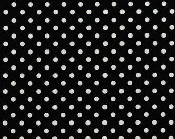 Fat Quarter Dumb Dot Black By Michael Miller Fabrics Sold By Half Yard