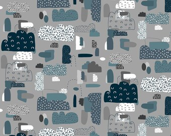 Fat Quarter Mystical Cloud Nine Night Sky By Cotton And Steel, Clouds