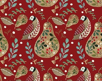 "10'x10""  12 Days of Christmas A Partridge Red By Northcott"