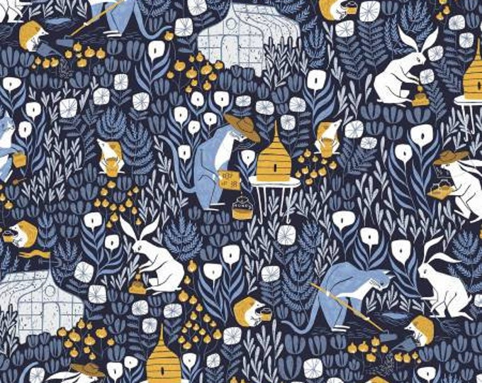 Featured listing image: Bee Keepers Navy By Dear Stella Fabrics
