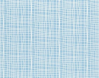 Blue Goose Grid Light Blue By Clothworks Sold By Half Yard