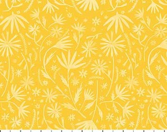 Eloise's Garden Yellow Leaves By Abigail Halpin for FIGO Fabric, 90035-52
