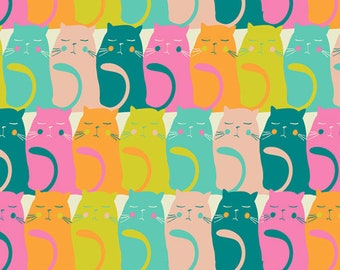 Fat Quarter Catitude Snooze Oh Meow! Collection By Art Gallery Fabrics