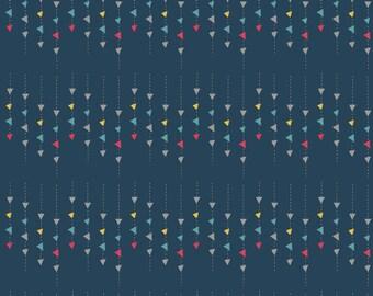 """17"""" x 42""""  Dear Diary Diary Confetti Navy By Minki Kim For Riley Blake Fabric"""