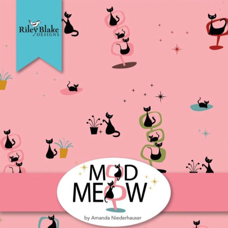 Mod Meow Plaid Blush By Amanda Niederhauser For Riley Blake Sold By Half Yard