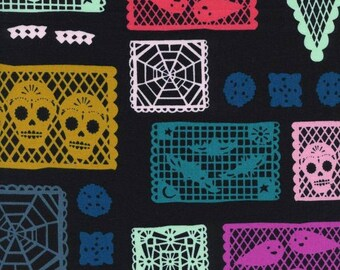 Fat Quarter Paper Parade Boo Collection By Alexia Marcelle Abegg for Cotton & Steel Fabrics, Day Of The Dead Papel Picado Banners