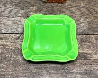 Vibrate Ash Tray Lime Green Square Japan