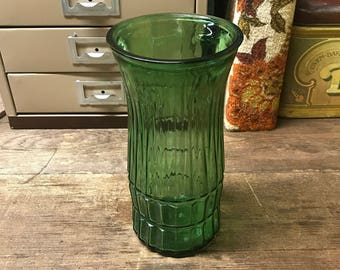 Vintage Eo Brody Green Vase Floral
