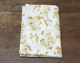 Vintage Pillowcase Brown Tan Floral