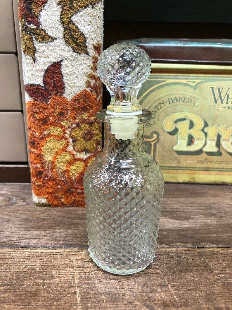 Vintage Bottle Glass Bottle with Lid Avon