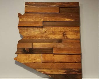Exceptionnel Arizona Rustic Wood State Cut Out, Wood Art Sign, Arizona Wood Sign, Rustic  Home Decor, Arizona Barnwood, Arizona Home Decor