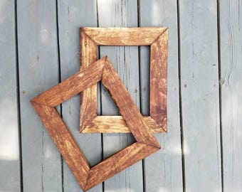 Rustic Picture Frame, Wood Frame, Rustic Wood, Picture Frame, 8 x 10 Frame