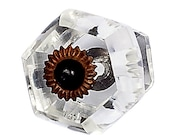 Curved Hexahedron Knob Shabby Chic Knob Dresser Knobs Crystal Knob Crystal Drawer Pull Cottage Chic Crystal Knob Pull Handle Knob 165002