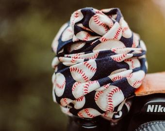Baseball Camera Strap, Camera Strap, Scarf Strap, Purse Strap, Strap, Camera Bags and Cases, Camera Accessories, Photographer Gift