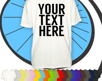 Mens Custom Printed T Shirt - Any Name or Text Personalised Tshirt - Personalized Work Stag Night Party T-Shirt Funny Gift Present