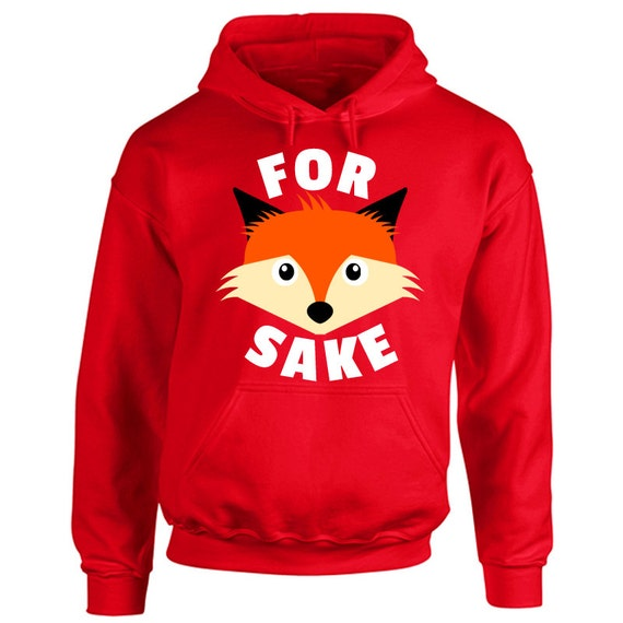 Adultes pour Fox saké Hoodie Hoodie Hoodie - amoureux des animaux Hooded Top - drôle Rude Offensive Anti chasse - présentent Mens unisexe Mesdames Pullover Hood 4de52d