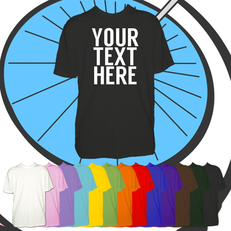 Childrens Custom Text Printed T Shirt  Any Name or Text image 0