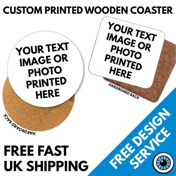 Personalised Romantic Couples Love Coasters Printed Design Hardboard RoundSquare Coasters
