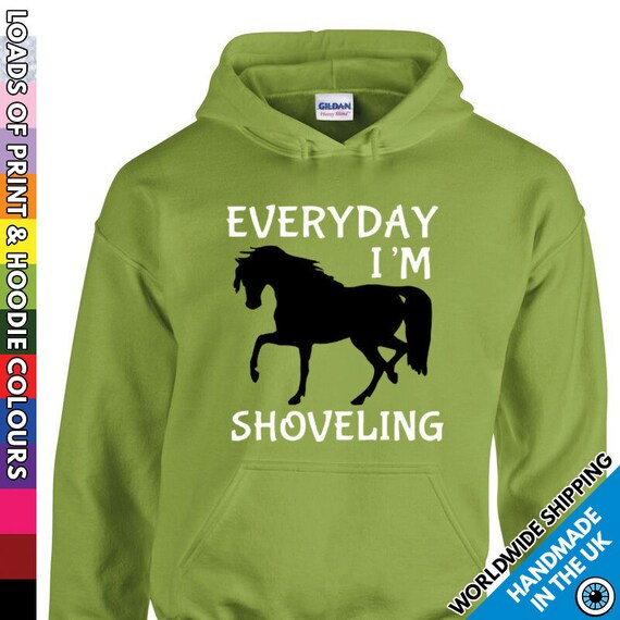 Keep Calm and Ride On Hooded Top Horse Riding Mens Womens Ladies Unisex Hoodie