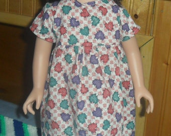Heart Patterned 18 in. Doll Dress