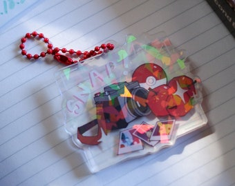 """Pokemon Snap Inspired - 2.5"""" Double Sided Holographic Acrylic Charm   Perfect for Nintendo Switch Case   Camera bag"""
