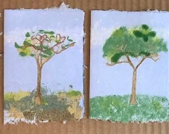 Four Seasons of Kozo Tree Notecards