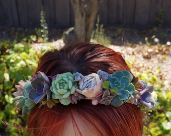 Succulent Hair Crown/ Wreath