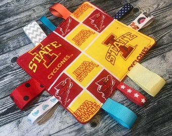 official photos 11033 ac348 Iowa State Cyclones Baby Sensory Crinkle Tag Toy