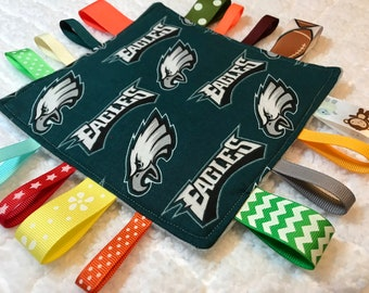 Philadelphia Eagles Baby Sensory Crinkle Tag Toy