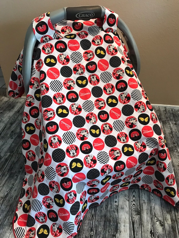 Minnie Mouse Car Seat Canopy Cover