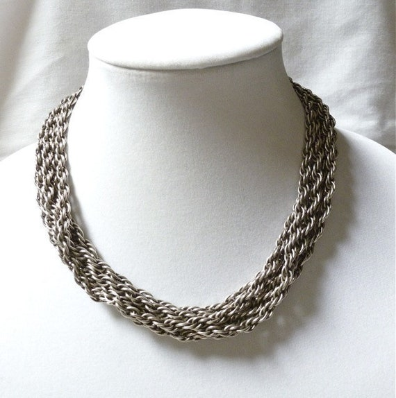 RARE Joseff of Hollywood silver plated multi CHAIN