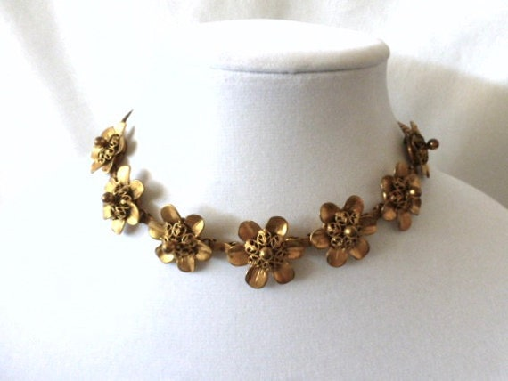 Joseff of Hollywood small FLOWER necklace CHOKER 1
