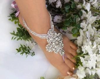 89c6e0e52b0 Lavender Wedding Barefoot Sandals