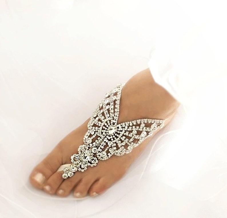 Sd018 Hochzeit Strass SandalenSilber Kristall Fuß Schmuck Footless Sandale Schmetterling Braut Barfuss QdotsrxBhC