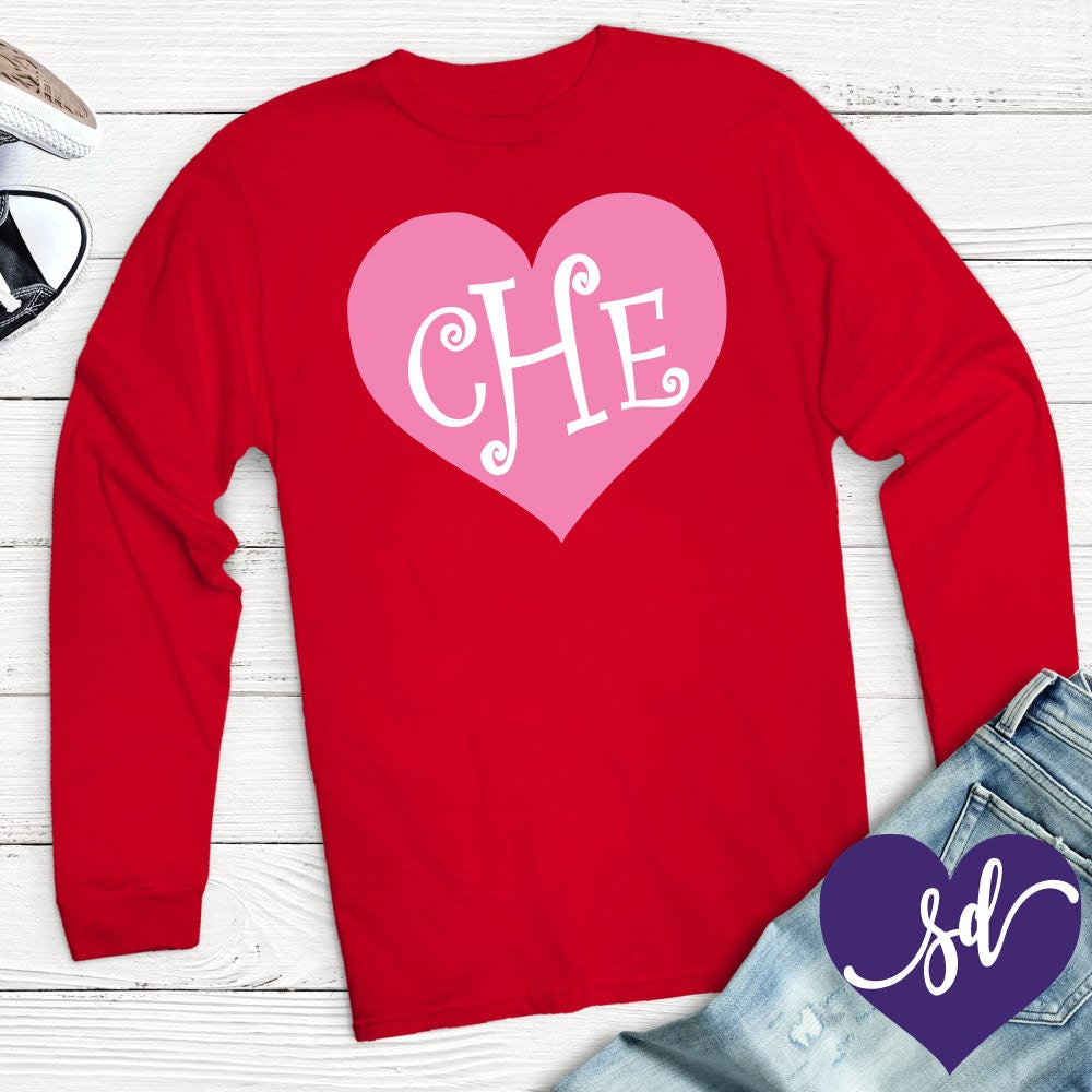 Personalized Valentines Day Shirt For Women Gildan Long Sleeve