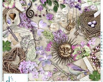 Preludio al Primavera - Digital Scrapbooking Kit - Vintage - Scrapbook - Printable