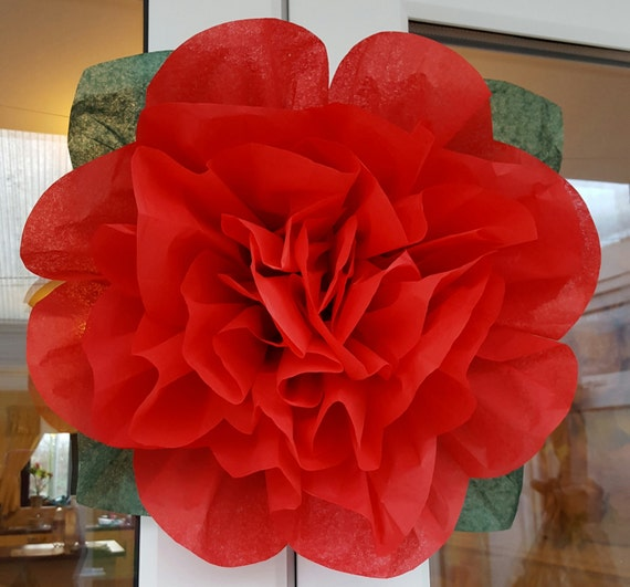 Pom pom rose tissue paper flower 45cm wedding decorations etsy image 0 mightylinksfo