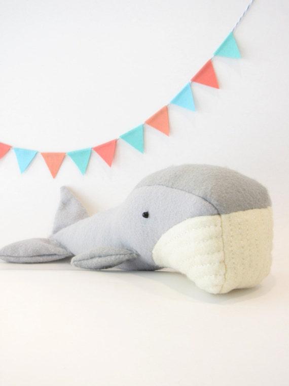 Claudette the Whale PDF Sewing Pattern DIY felt softie | Etsy