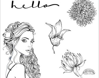 Clear Stamps _ Hello _ 049