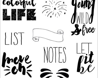 Clear stamps _ notes_ 034