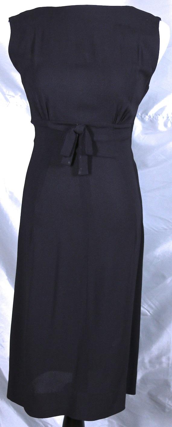 Amazing LBD Dress with Empire Waist Side Metal Zip