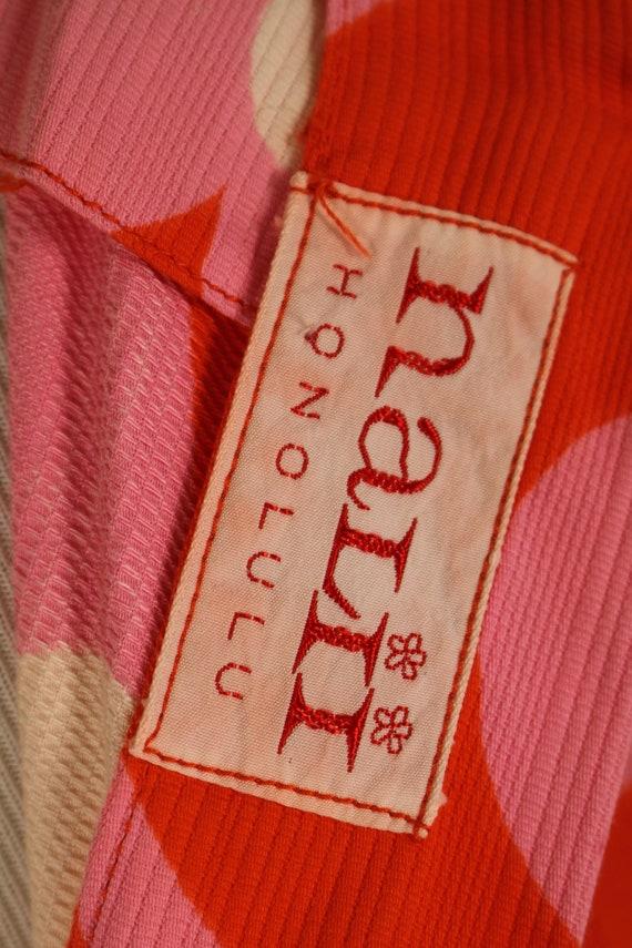 Vintage Nalii Honolulu Pink and Orange Flower women/'s Blouse Made in Hawaii