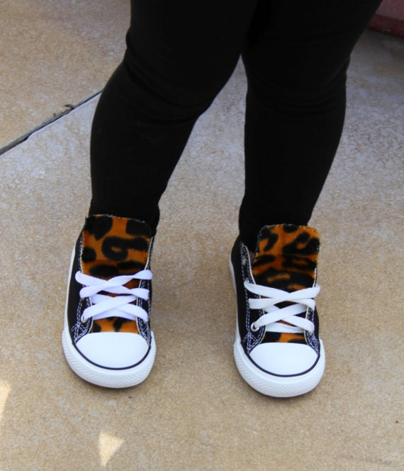 run shoes shop best sell Kids Leopard Print Converse Shoes