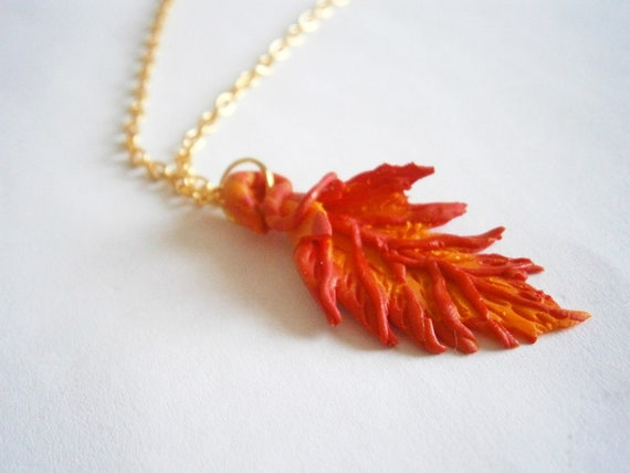 Botanical Necklaces Leaf Necklace Hand Pressed Nature Lover Jewelry Fimo Neckalce Polymerclay Gifts Treehugger gift idea