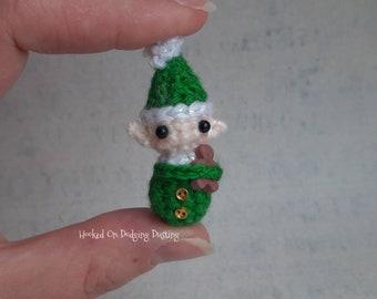 Miniature elf, baby elf, Christmas gift, doll house, dolls house xmas, mini elf, bjd pet, elf plush, gingerbread, hug, vegan friendly.