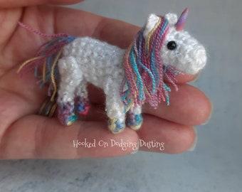 Unicorn plush, miniature unicorn, uni birthday, magical gift, kawaii unicorn, mini unicorn, multicolour unicorn, bjd pet, dolls house, magic