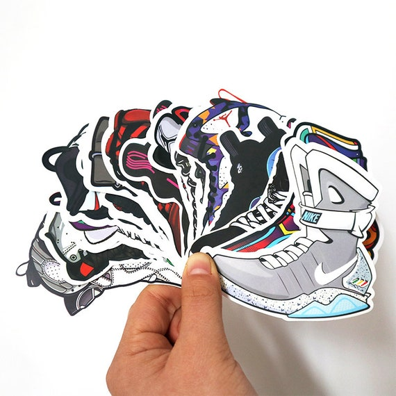 Basketball Air Autocollant Chaussures Jordan Aj Sticker 100pcs dawqxBYRq