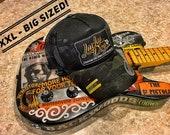 XXL Oversized Lucky Dog Guitars Black MultiCam Camo Mesh Trucker Mesh ball cap - embroidered patch - hat truckstop meshback big size XXL